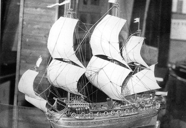 Экспозиции: Корабль Божье предвидение автор В.Н.Викулов, 1977