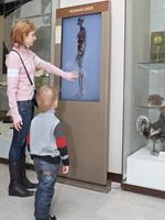 Новый интерактивный экспонат в экспозиции Дарвиновского музея .