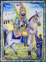 Декоративное панно.Иран.XIXв.