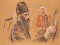 Анна Леон. Портрет архимандрита-иконописца Зинона (Теодора), 2009