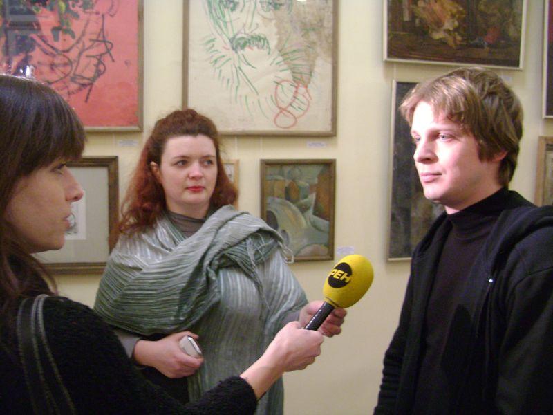 Экспозиции: Александр Егоров на Передвижной выставке авангарда в Рыбинском музее.2012