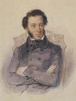 Экспозиции: П.Ф.Соколов - Акварель-А.С.Пушкин 1836 г.