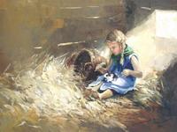 Морозова Инесса - Девочка с кроликом