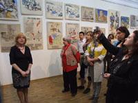 На открытии выставки «Борис Бобров - художник и воин»
