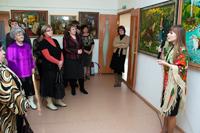 Открытие выставки  Деревенские мотивы