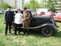 ГАЗ-М1 1936 года и участники Парада РЕТРОМОТОР. Москва. Краснодарская, 58.