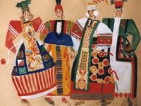 Дымковские игрушки.Девки.1993
