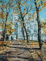 У Никольского собора Золотая осень