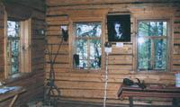 Домик Яшина на Бобришном угоре (вид изнутри).