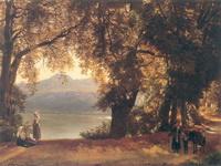 .Ф.Щедрин.Озеро Альбано в окрестностях Рима. Не позднее 1825. Холст, масло. 45х61