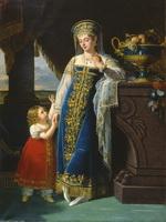 Лефевр Робер. Портрет княгини М.Ф. Барятинской с дочерью Ольгой.  1817.