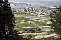 Экспозиции: Вид с горы на памятник природы Самаровский останец. Археопарк