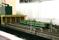 Макет участка железной дороги. Станция Мир