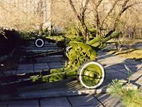 Фрагмент экспозиции по открытым небом Оружие Победы