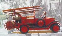 Модель первого отечественного пожарного автомобиля