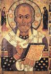 Мастер Алекса Петров. Святой Никола с изобранными святыми на полях, 1294