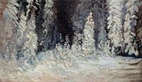 А.А. Борисов. Лес зимой