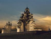 Выставка О.Семененко Кижи над реальностью