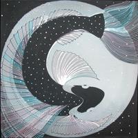 Экспозиции: Выставка батика и графики Анна Милосердовой Образы Солнца, чертоги Луны
