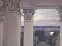 Якунчикова-Вебер М.В. Из окна старого дома. Введенское. 1897. Холст,  масло