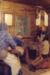 Историко-бытовой комплекс Семья кустаря-замочника за работой (художник Н.П.Чиковкин, 1939).