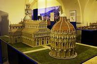 Соборная площадь Пизы. Макет. Выставка Италия в миниатюре