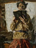 Ткачев А.П. Читающий. 1957. Холст, масло.