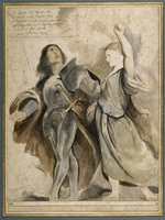 Питер Пауль Рубенс (1577-1640). Император Август и Тибурская Сивилла по Порденоне. Около 1607-1608.