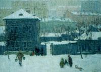 Сапожников А.Б. Городской пейзаж, 1969 г.