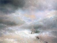 Экспозиции: И.К.Айвазовский. Волна. 1889. Холст,масло. 304х505