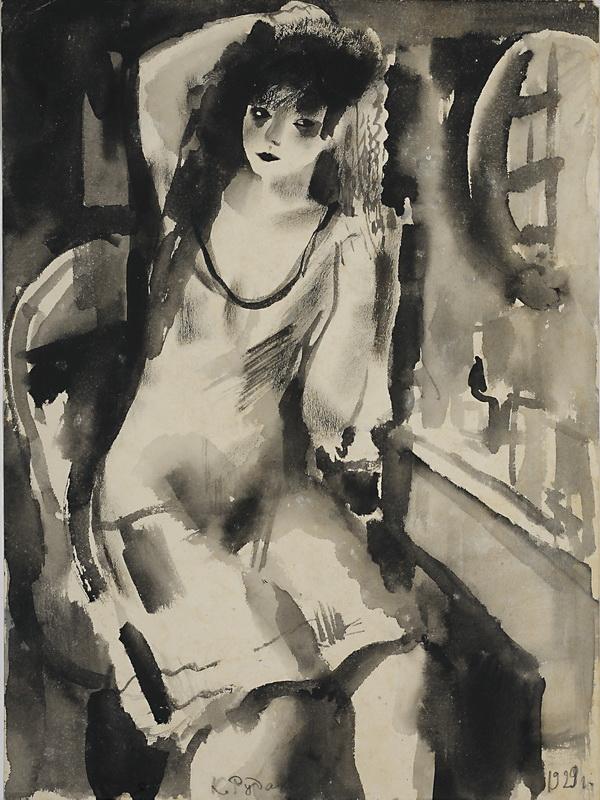 Экспозиции: Рудаков К.И. Девушка у зеркала. 1929.