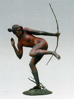 Убегающая амазонка. Бронза. 70 см. 2003 г