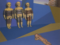 Натюрморт со старинными куклами. 2006. Холст, масло