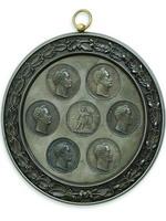Медальон с медалями, посвященными русско-турецкой войне 1828-1829 гг, отлитый для имп. Николая I