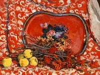 Красный поднос и рябина. 1947. Холст, масло. 85,2х102,5. Фонд П. Кончаловского.