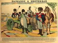 «Наполеон при Монтеро». Гравюра, раскраска акварелью. Франция. 1890-е