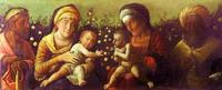 Андреа Мантенья. Святое семейство со святыми Елизаветой, Иоанном Крестителем и Захарией. 1504-1506, Мантуя