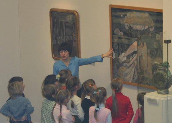 Экспозиции: Занятие с детьми на выставке Русский символизм. Голубая роза