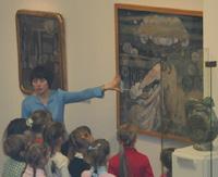 Занятие с детьми на выставке Русский символизм. Голубая роза