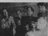 В день Победы над Германией 1945.Твардовский, Горяев - справа