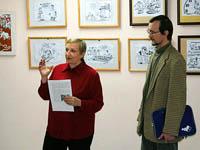 Выставка карикатуриста  А. Дьякова