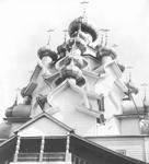 Преображенская церковь на о. Кижи до реставрации