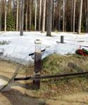 Российское захоронение. Светильник-стакан. Фото А.Лебедева