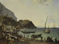 Щедрин С.Ф. Большая гавань на острове Капри. 1827. Холст, масло.