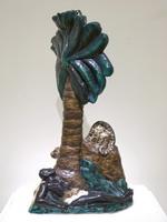 Фрих-Хар И.Г. Негр под пальмой. 1929 Торшер. Фаянс, роспись, позолота
