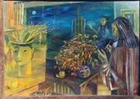 А.О.Цыбикова Вечерний натюрморт,1983