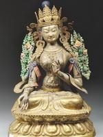 Скульптура Белой Тары – буддийской богини милосердия и долгой жизни.Бурятия. XIX в.