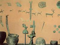 Вид экспозиции. Археологические находки