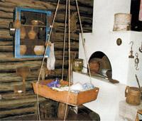 Фрагмент экспозиции Крестьянская изба