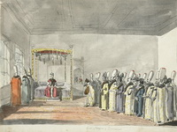 Воробьев М.Н. Аудиенция русского посольства у султана. 1820-1821.